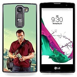 "Qstar Arte & diseño plástico duro Fundas Cover Cubre Hard Case Cover para LG G4c Curve H522Y ( G4 MINI , NOT FOR LG G4 ) (G T A - Michael Poster"")"