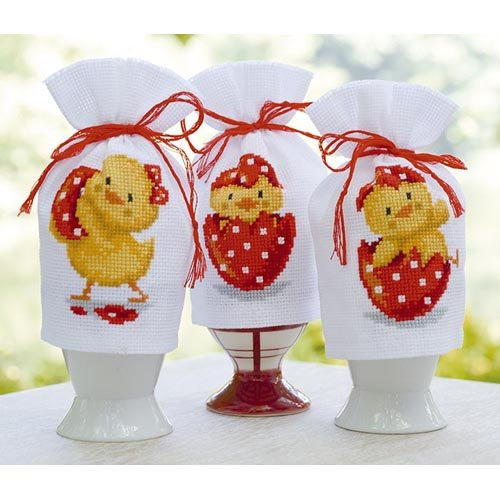 Vervaco® Happy Easter Egg Cozies Counted Cross-Stitch Kit