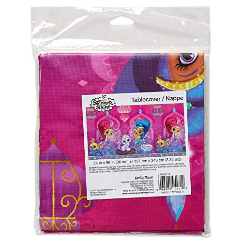 American Greetings Shimmer and Shine Plastic Table Cover, Multicolor -