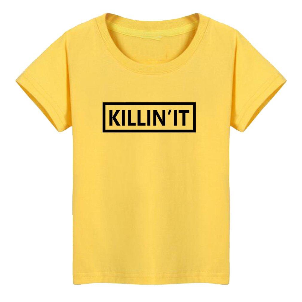 Conquershop Kids Killin'It Fashion Letter Print T-Shirt (Y,2T)