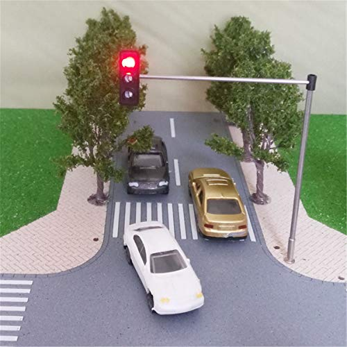 ZUINIUBI Traffic Light Signal Model-3-Lights Train Architecture Crossing Walk Street Block Signals HO OO Scale 5V Not Include Circuit Board ()