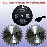 Pack of 3 Assorted Metal/wood 4-1/2' 4.5 inch Circular Saw Blade...