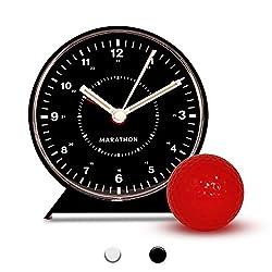 Marathon CL034001BK Mechanical Wind-Up Alarm Clock - Black (Certified Refurbished)