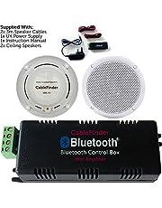 Wireless/Bluetooth Amplifier & 2x 80W Ceiling Speaker Kit–Compact Home Hi-Fi Amp