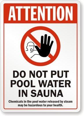 Atención: no poner agua de piscina en sauna (con gráfico ...