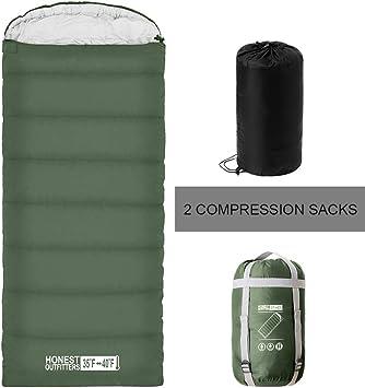 Amazon.com: HONEST OUTFITTERS Saco de dormir con bolsa de ...