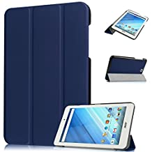 """Luffytops For Acer Iconia One 8"""" B1-850 Case ULTRA Slim Cover Folio Stand Shockproof Protective Case Darkblue"""
