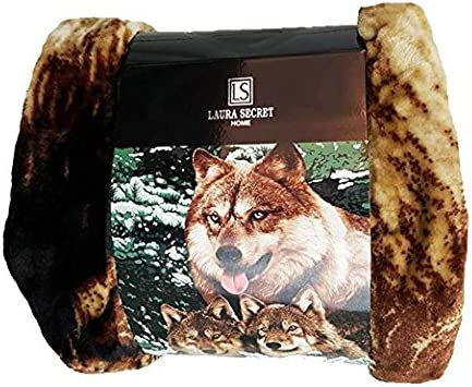 Soft Faux Fur 3D Panther Throw Blanket Bedspread for Bed and Sofa Double King