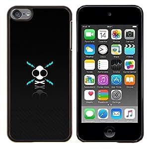 EJOOY---Cubierta de la caja de protección para la piel dura ** Apple iPod Touch 6 6th Touch6 ** --X Cráneo