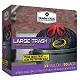 Member Mark 33 Gal. Power-guard Drawstring Trash, 90 Count