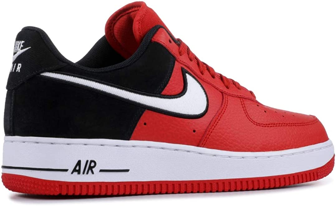 Nike Men's Air Force 1 LV8 Mystic Red/White/Black Leather Casual Shoes 12 M  US