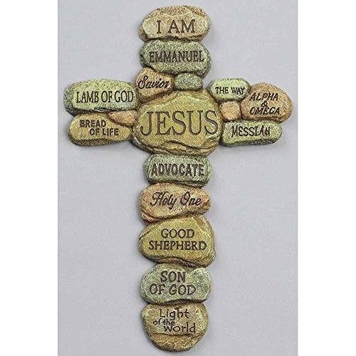 Names Of Decorative Stones : Names of jesus christ pebble inch resin decorative