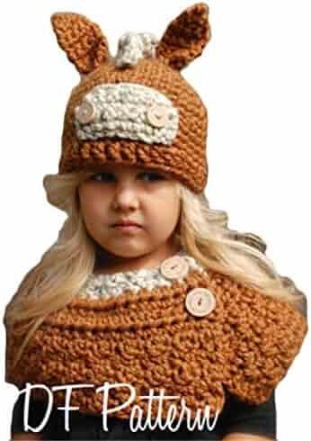 06ed9a4efa6 BAIMORE Kids Knitted Hood Scarf Beanies Ear Warmers 3D Cartoon Cloak Woolen  Cap