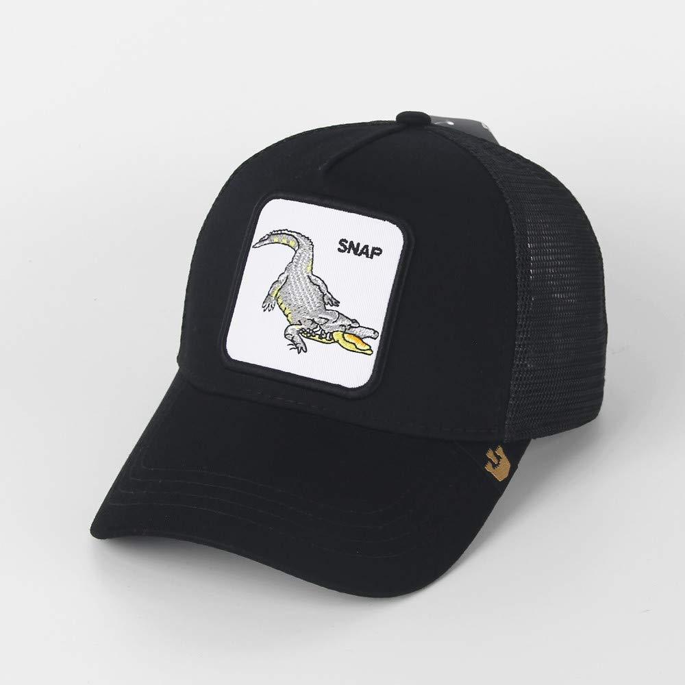 QQYZ Rinder Tier Bestickt Baseball Kappe Tier Netz Hut