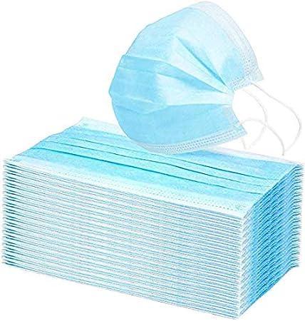Mascarillas con enganches para la Oreja, 50 Unidades, con protección antivirus y anticontaminación for el Bloqueo Protection Pack contaminación del Polvo del Aire de 50%