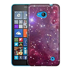 Nokia Lumia 640 Case, Slim Fit Snap On Cover by Trek Nebula Purple Case
