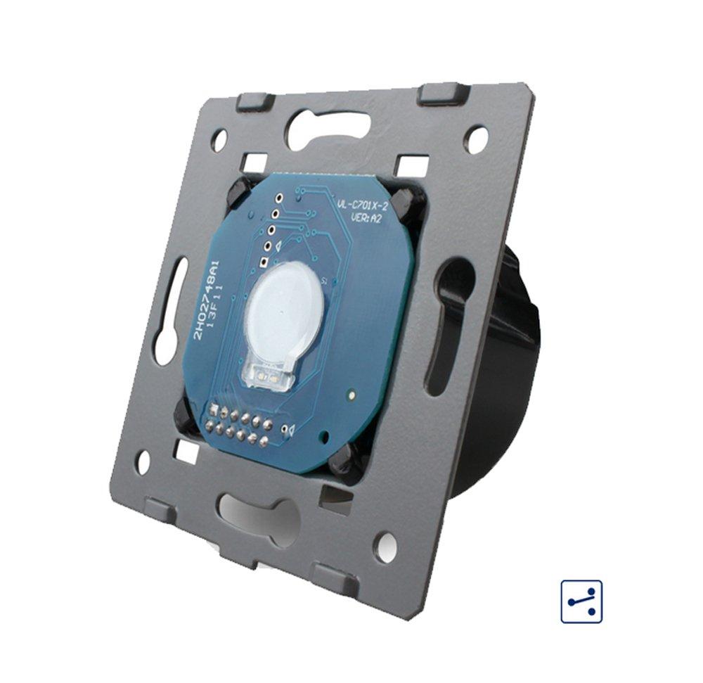 Design Glas Touch Lichtschalter 1fach Ein/Aus weiß: Amazon.de: Baumarkt
