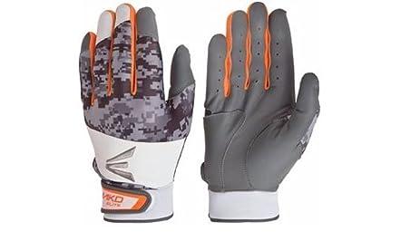 orange youth batting gloves