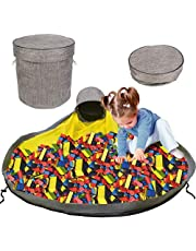 Toy Organizer Basket and Play Mat for Kids