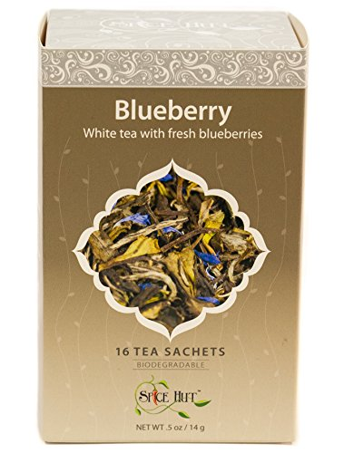 The Spice Hut Blueberry White Tea, 16 Count