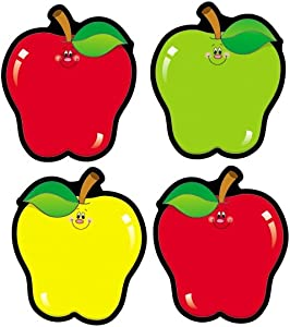Carson Dellosa – Apples Colorful Cut-Outs, Fall Classroom Décor, 36 Pieces, Assorted Designs, Multicolor (5555)