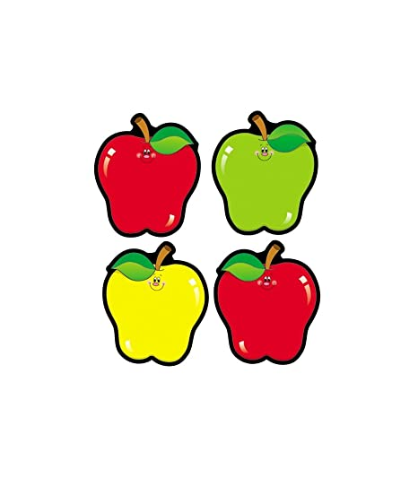 Carson Dellosa Apples Colorful Cut Outs Fall Classroom Décor 36 Pieces Assorted Designs