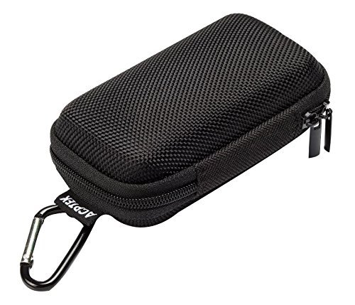 AGPtek BC Durable MP3 Player Case, Portable Clamshell Headphones Cover, Holder with Metal Carabiner Clip for MP3 Players, USB Cable, Earphones, Memory Cards, U Disk, Lens Filter, Keys, Coins, Black