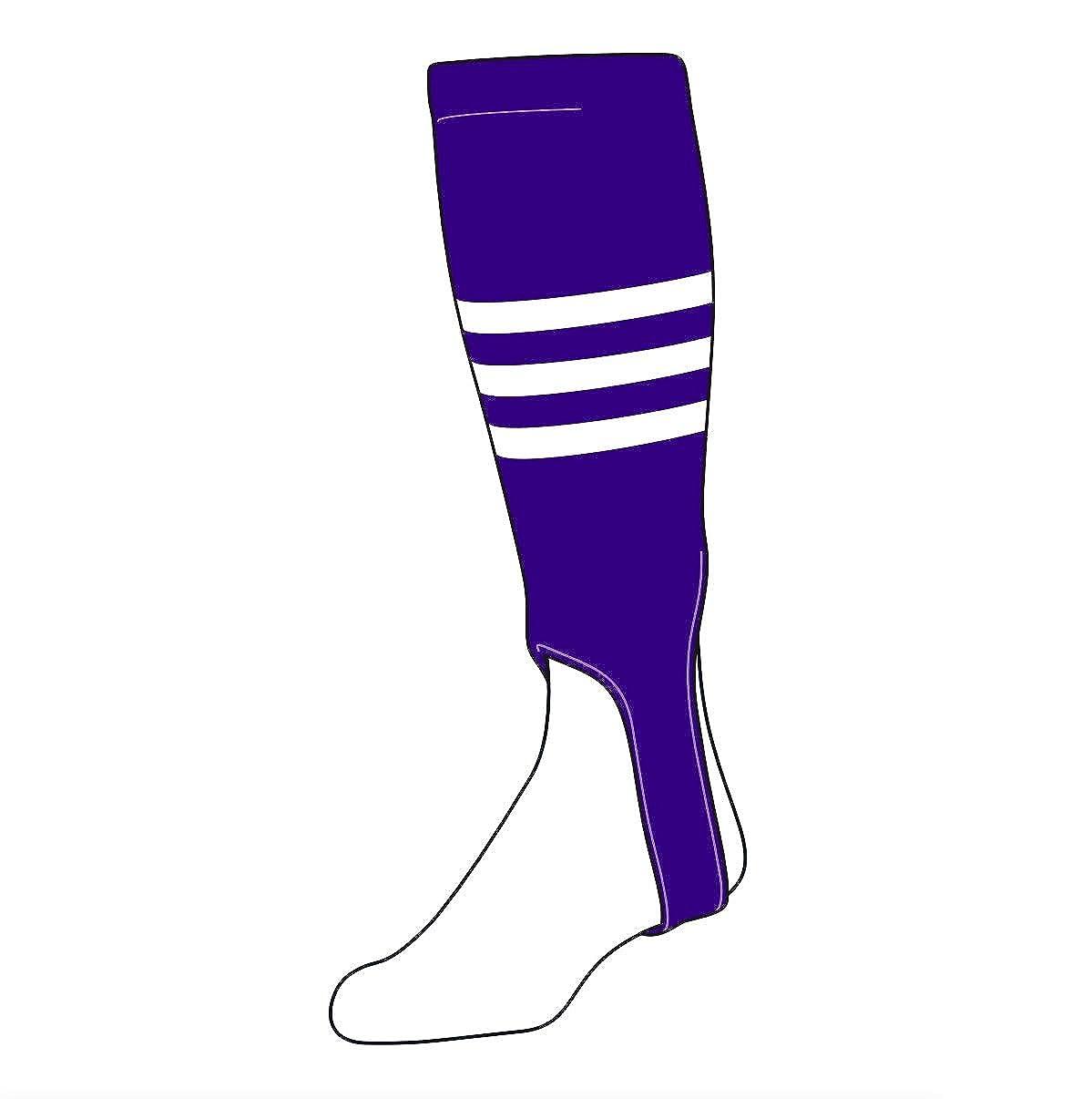 300B, 5in White TCK Baseball Stirrups Large Purple