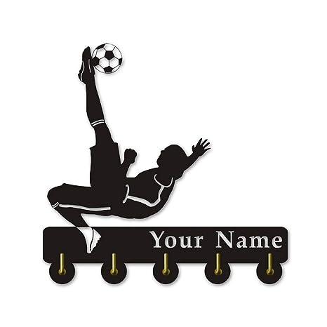 ANMY Personalice su Nombre para los Temas de fútbol Percha ...