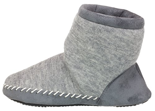 Knit Heather amp; Womens Microsuede Boot Heather Marisol Grey Isotoner z0IPqx