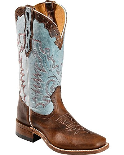Price comparison product image Boulet Women's Damiana Cowgirl Boot Square Toe Brown 6 M US