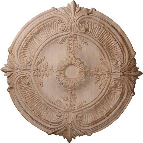 Ekena Millwork CMW24ACCH 24-Inch OD x 2 1/4-Inch P Carved Acanthus Leaf Ceiling Medallion, Cherry by Ekena Millwork