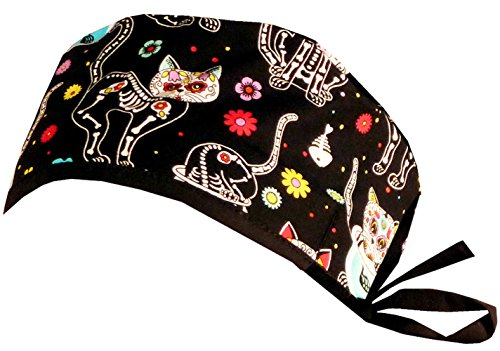 Mens and Womens Surgical Scrub Cap - X-Ray Cats  b9c36a2113de