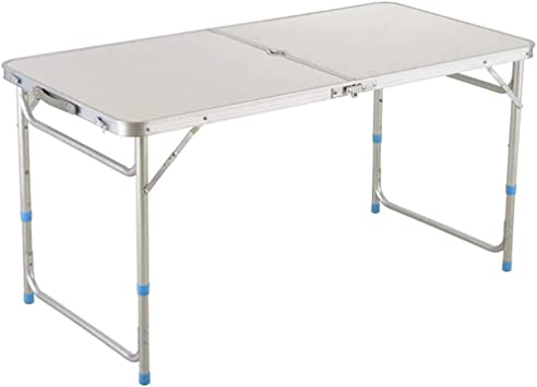 YFFSS 3,9ft Mesa, Mesa Plegable Utilidad, Fold-en-Mitad del Partido Picnic Plástico Portátil Comedor Campo De La Tabla (Color : Silver): Amazon.es: Hogar
