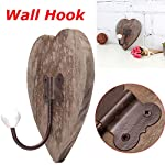 Agordo Vintage Love Heart Coat Towel Wall Bow Hook Wooden Rustic Rack Hanger Shabby
