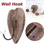 Agordo Vintage Love Heart Coat Towel Wall Bow Hook Wooden Rustic Rack Hanger Shabby