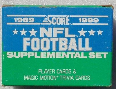 1989 Score Supplemental factory football set ()