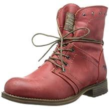 Mustang Women's Boots Klettschuhe Sympatex Amethyst Viol Synthetik Snow Sneakers