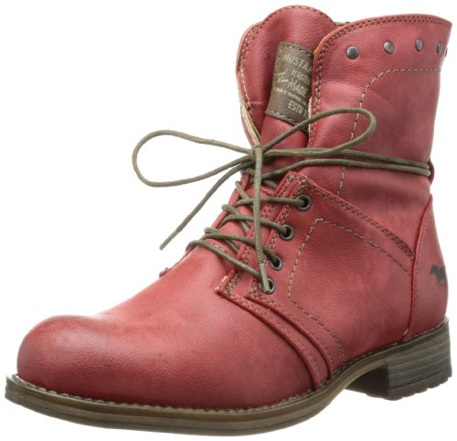 Mustang Womens 1139-610 Boots Red - Rot (Rot 5)