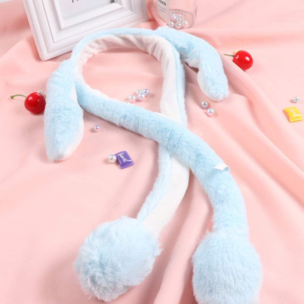 Easter Dress Up Gift Movable Rabbit Ear Headband Plush Toy Hairband for Kids Birthday Party Gift Ear Moving Jumping Hat for Women Girls Feli546Bruce Funny Plush Bunny Hat//Cute Animal Hat//Rabbit Hat