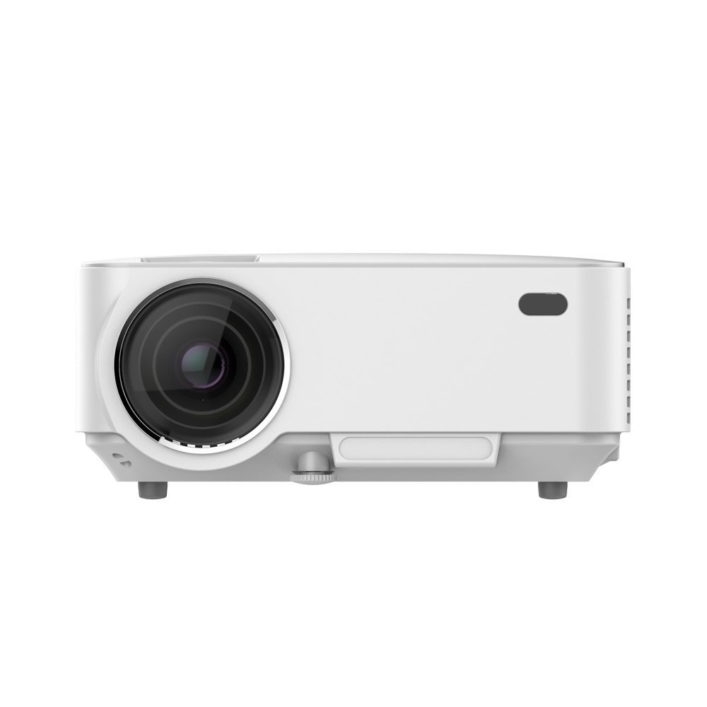 Andorid Wifi Bluetooth Projector ( Warranty Included ),SINOSAL SINO-20B Portable 1500 Lumens Mini LED Projector with RJ45 USB SD AV HDMI for 1080P Home Cinema Theater Video PS Xbox Games Movie (White)
