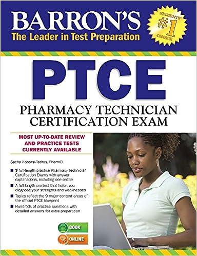 Barron\'s PTCE/Pharmacy Technician Certification Exam: 9781438007274 ...