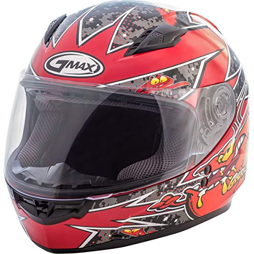 GMAX Unisex-Adult Style G7496200 TC-1 Gm49Y Full Face Street Helmet Alien Black/Red Youth s Small