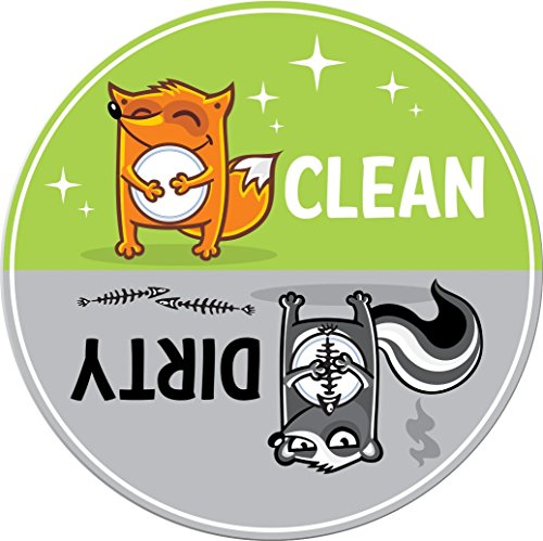 Clean Dirty Dishwasher Magnet by 3 Rivers Trading Post, Cute 3.5