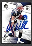 #3: Wes Welker Upper Deck 2009 Patriots Autographed Signed Card -- COA - (Near Mint Condition)
