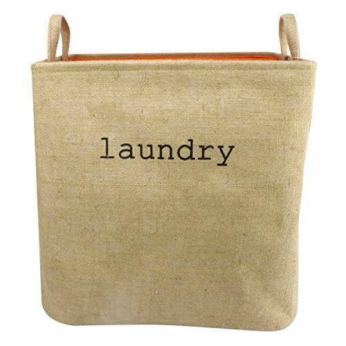 apsible Large Size Laundry Hamper with Two Handles, Heavy Duty and Durable, Collapsible and Self Standing as Laundry Basket (17 x 13.3 x 16.5inch) (Large Linen) (Collapsible Wire Baskets)