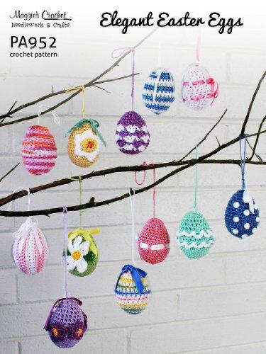 Crochet Pattern Elegant Easter Eggs PA952-R