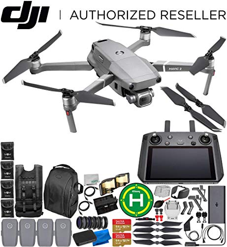 DJI Mavic 2 Pro Drone Quadcopter with Hasselblad Camera 1″ CMOS Sensor with Smart Controller Ultimate 4-Battery Bundle