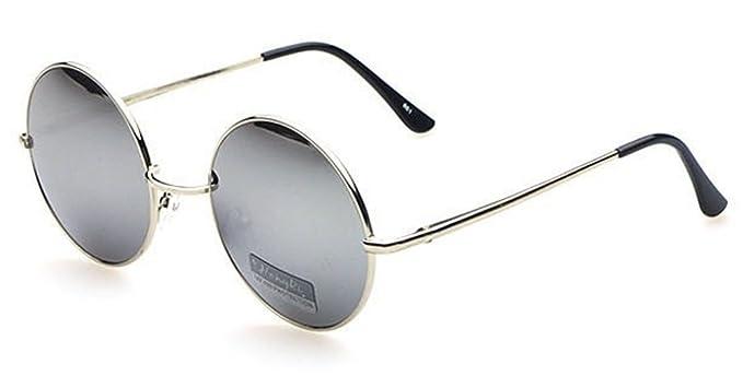 Occhiali Da Sole E Da Vista Marca Isurf Eyewear Modello Hippy Smal Round Vestibilita' Molto Piccola John Lennon Rotondi Tondi . (specchio Argento) opqmmF