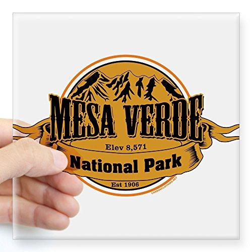 CafePress Mesa Verde, Colorado Sticker Square Bumper Sticker Car Decal, 3